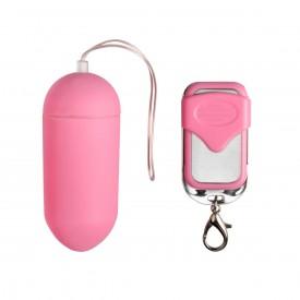 Розовое виброяйцо Easytoys Vibration Egg с пультом ДУ